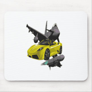 FAST YELLOW CONV CAR MOUSE PAD