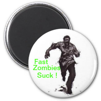 Fast Zombies 6 Cm Round Magnet