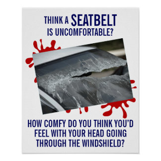 Fasten-ating Poster About Seatbelt Safety