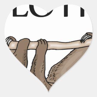 faster sloth heart sticker