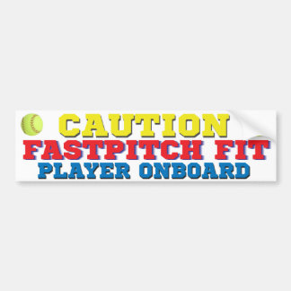FastPitch Fit Player On Board Bumper Sticker