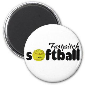 Fastpitch Softball 6 Cm Round Magnet