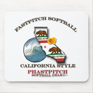 Fastpitch Softball California Style Mouse Pad