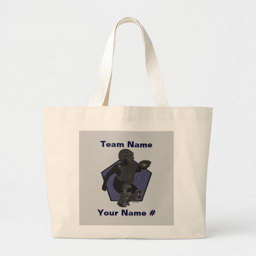 Fastpitch Softball Catcher Tote Bag