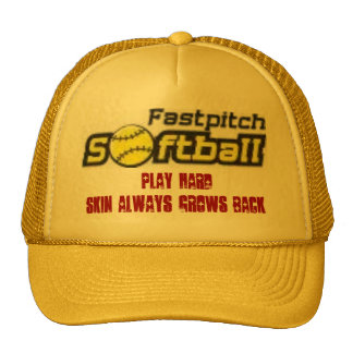 fastpitch-softball-clipart-11_small, Play Hard,... Cap