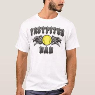 Fastpitch Softball Dad Tribal T-Shirt