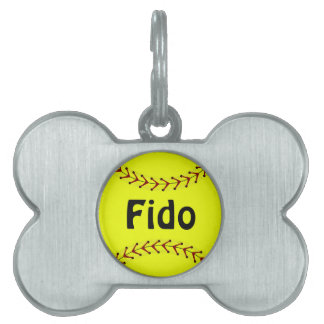 Fastpitch Softball Dog Tag