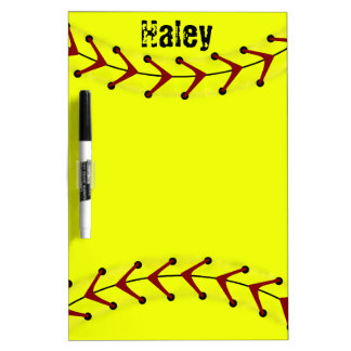 Fastpitch Softball Dry Erase Board