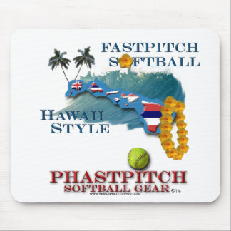 Fastpitch Softball Hawaii Style Mouse Pad
