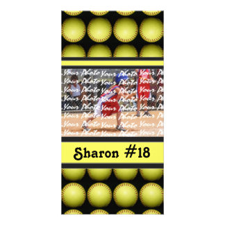 Fastpitch Softball Photo Card