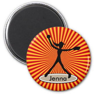 Fastpitch Softball Pitcher Magnet