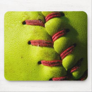 Fastpitch Softball Seam Mouse Pad