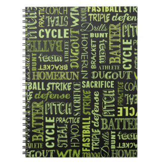 Fastpitch Softball Terms On The Chalkboard Spiral Notebook