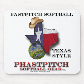 Fastpitch Softball Texas Style Mouse Pad