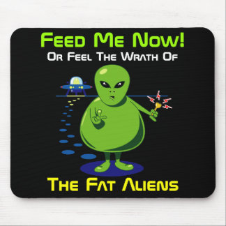 Fat Alien Invasion Mouse Pad