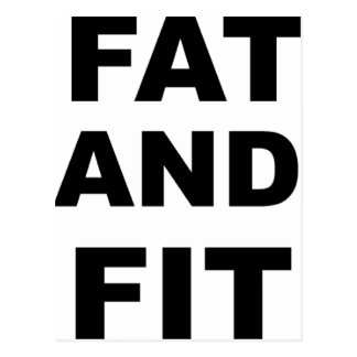 Fat and Fit Postcard