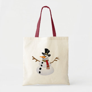 Fat and Happy Snowman Tote Bag