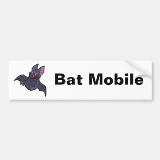 Fat Bat Mobile Bumper Sticker