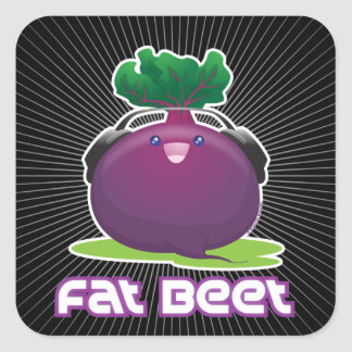 Fat Beet Square Sticker