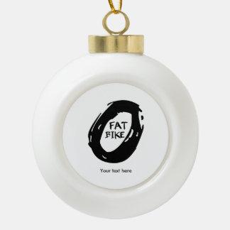 Fat Bike Ceramic Ball Christmas Ornament