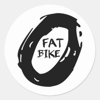 Fat Bike Classic Round Sticker