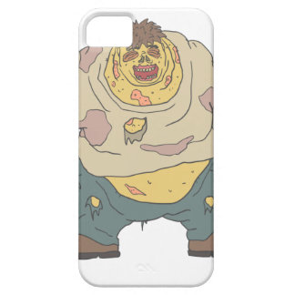 Fat Blind Creepy Zombie With Rotting Flesh Outline iPhone 5 Cover