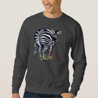 Fat Butt Zebra, plain Sweatshirt