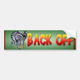 Fat Butted Zebra bumpersticker Bumper Sticker