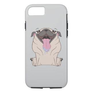 Fat Cartoon Pug Dog iPhone Case