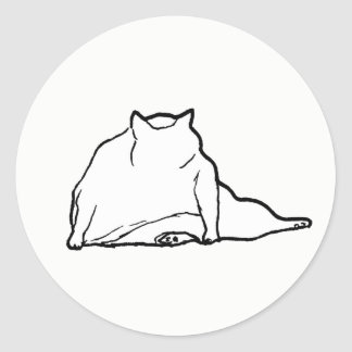 Fat Cat #3 Classic Round Sticker