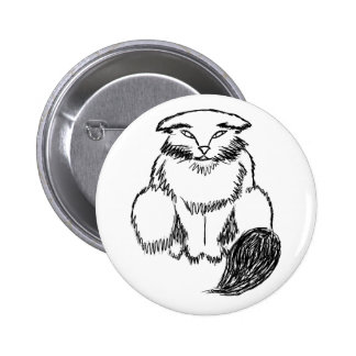 Fat Cat 6 Cm Round Badge