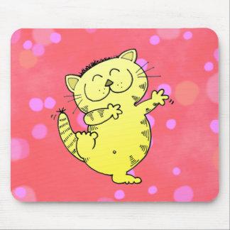 Fat Cat Dance Mouse Pad
