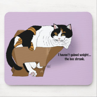Fat Cat Denial Mouse Pad