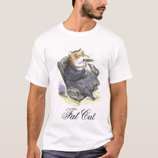 Fat Cat design T-Shirt