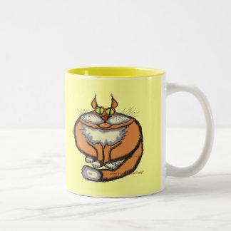 Fat cat funny mug design