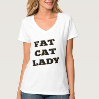 Fat Cat Lady Feline T-Shirt