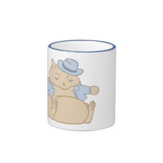 Fat Cat Little Coat Ringer Mug