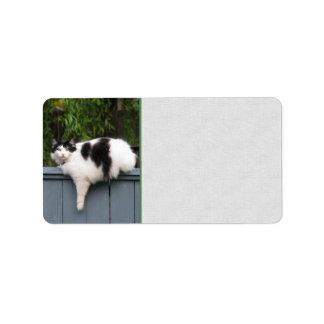 Fat Cat On Fence Address Label