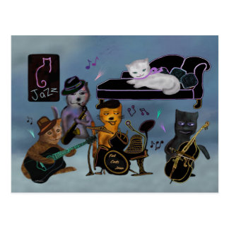 Fat Cats Jam Postcard