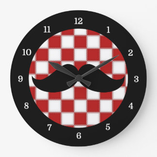 Fat Chef Moustache Clock