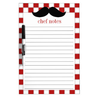 Fat Chef Moustache Dry Erase Board