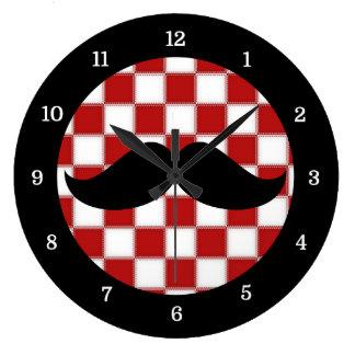 Fat Chef Mustache Clock