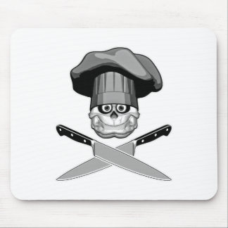 Fat Chef Skull v2 Mouse Pads