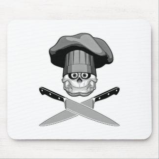 Fat Chef Skull v2 Mouse Pads
