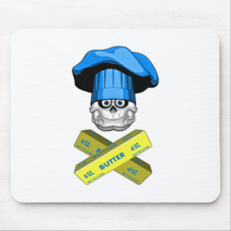 Fat Chef Skull v3 Mousepad