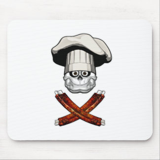 Fat Chef Skull v4 Mouse Pads