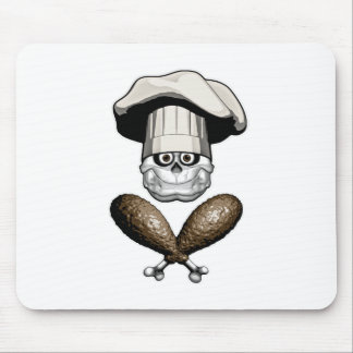 Fat Chef Skull v5 Mousepads