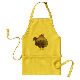 Fat Chicken Wearing a Beret apron