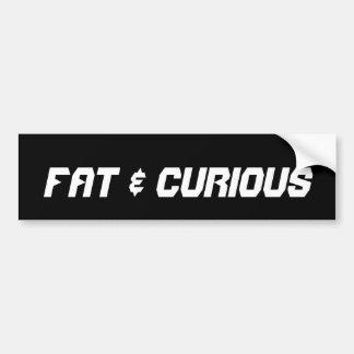 Fat & Curious Bumper Sticker