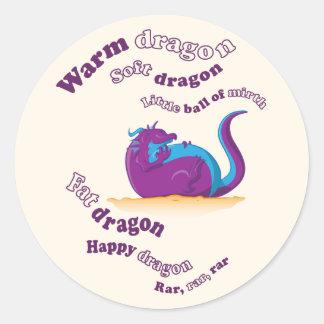 Fat Dragon Classic Round Sticker